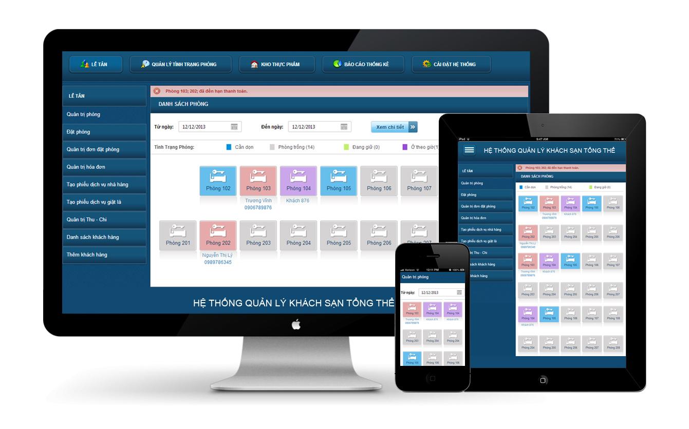Phần mềm hệ thống quản lý khách sạn tổng thể